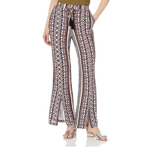 Tribal Womens Flowy Pant with Slit Sunset L